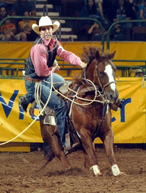 WOSC student competing in a rodeo